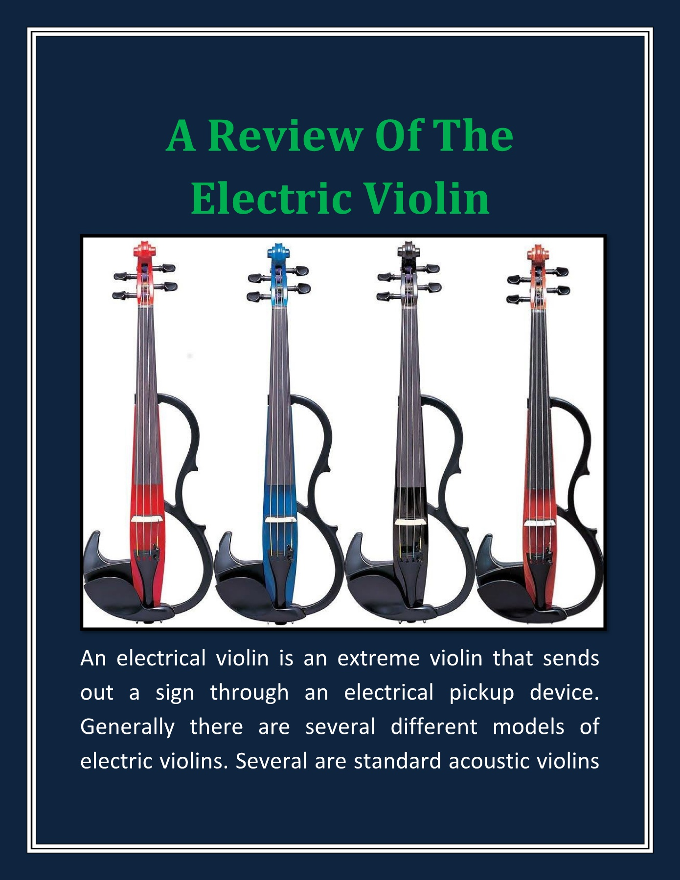 A Review Of The Electric Violin Pages 1 - 4 - Text Version