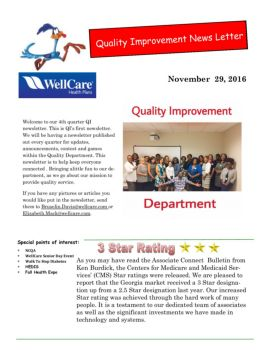 Quality Improvement News Letter5 Pages 1 - 27 - Text Version