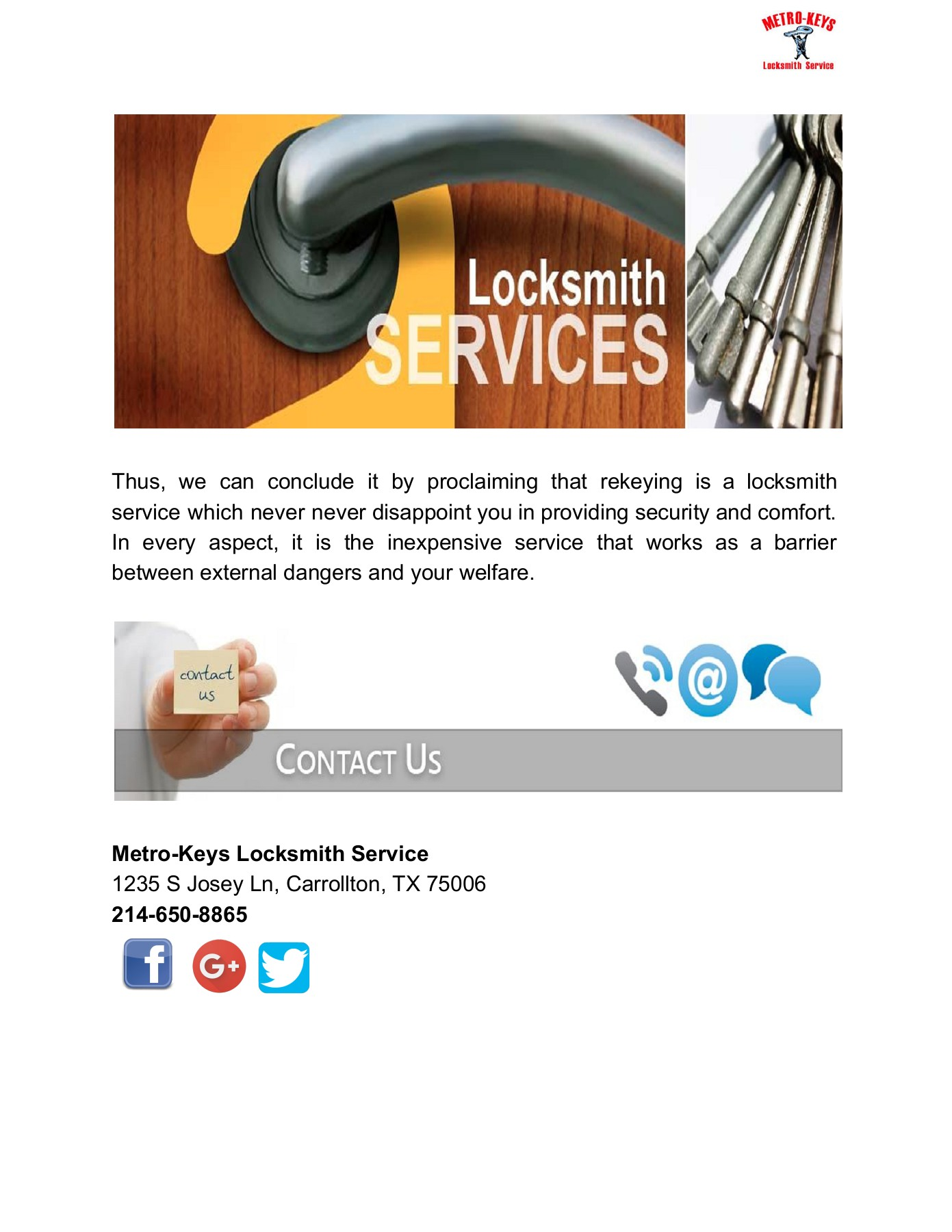 Get the best locksmith service in Dallas Pages 1 - 3 - Text Version