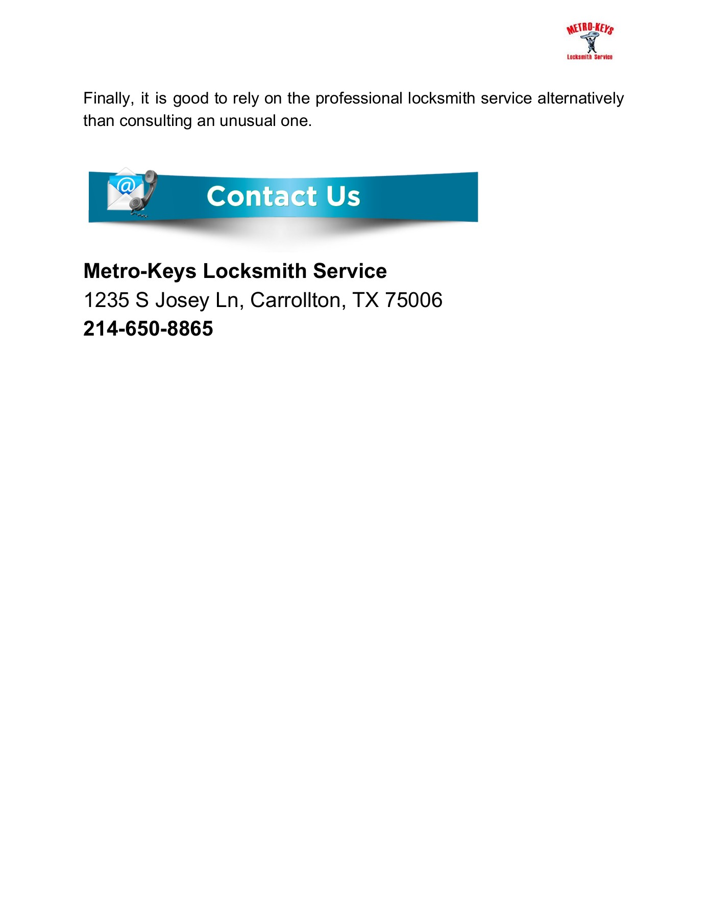 Emergency Locksmith in Dallas Pages 1 - 3 - Text Version   AnyFlip