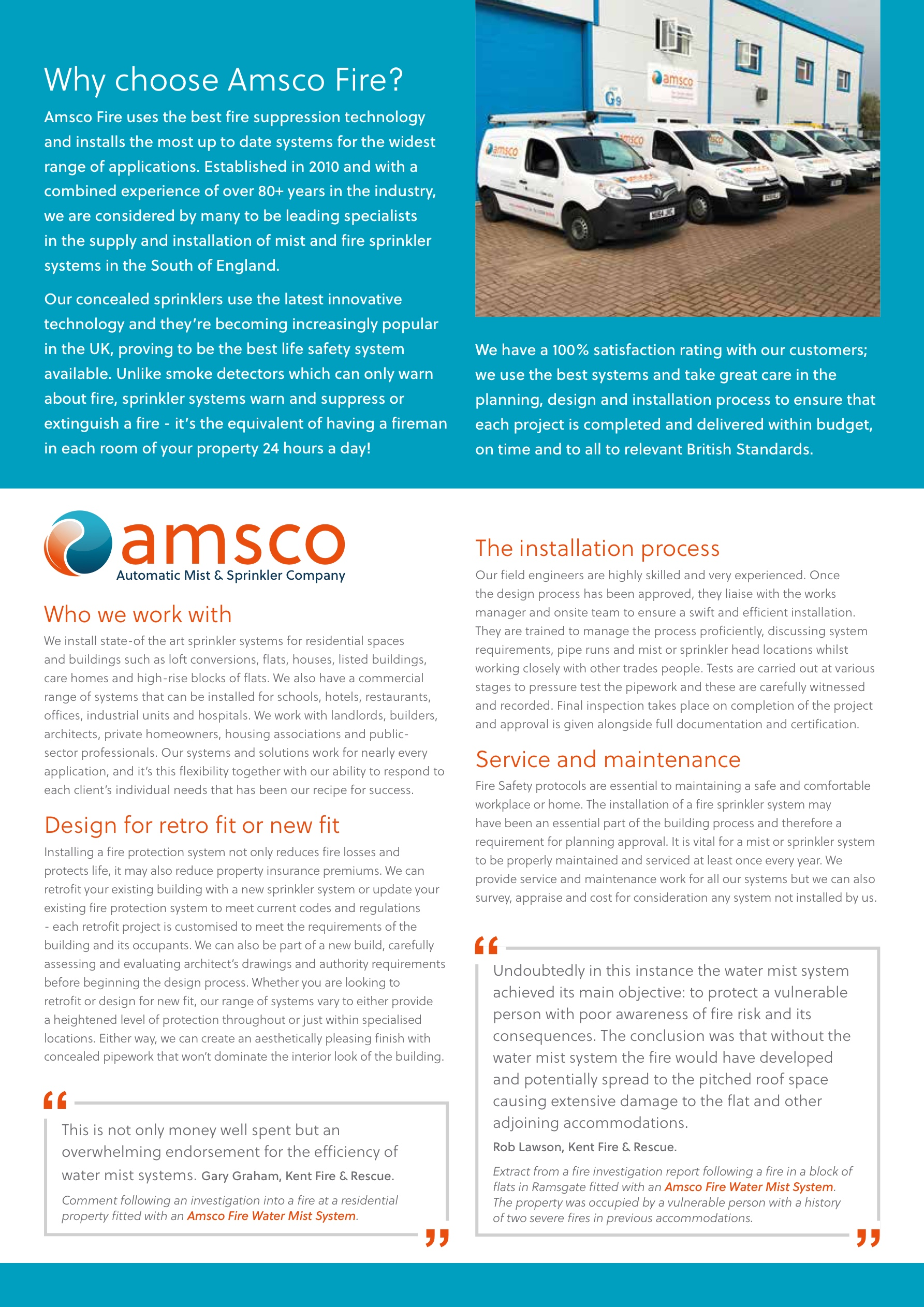 Amsco Mist and Fire Sprinklers Pages 1 - 4 - Text Version