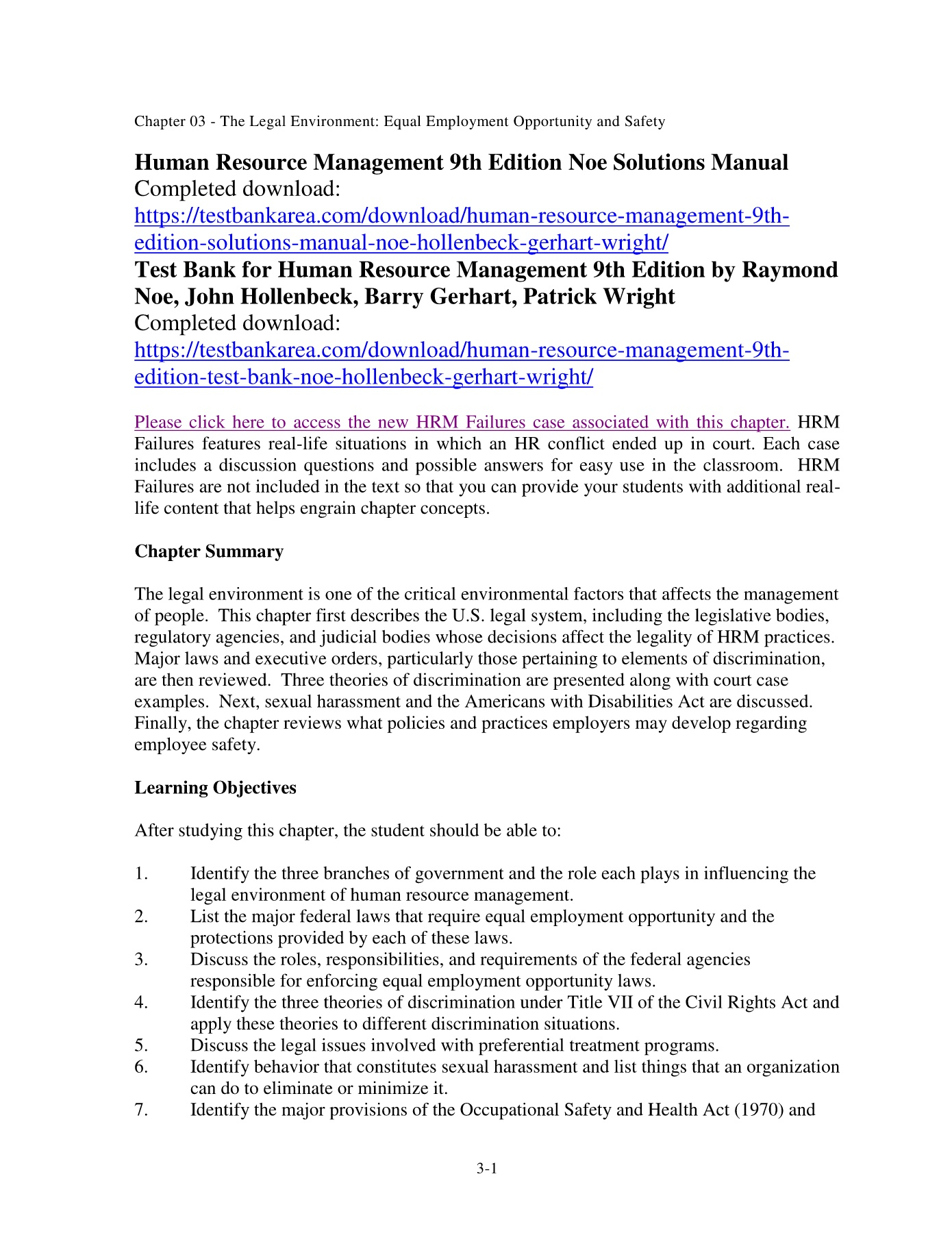 Human-Resource-Management-9th-Edition-Noe-Solutions-Manual