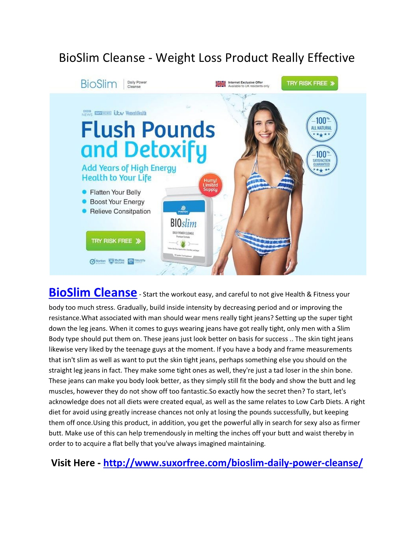 Bioslim Cleanse Weight Loss Product Really Effective