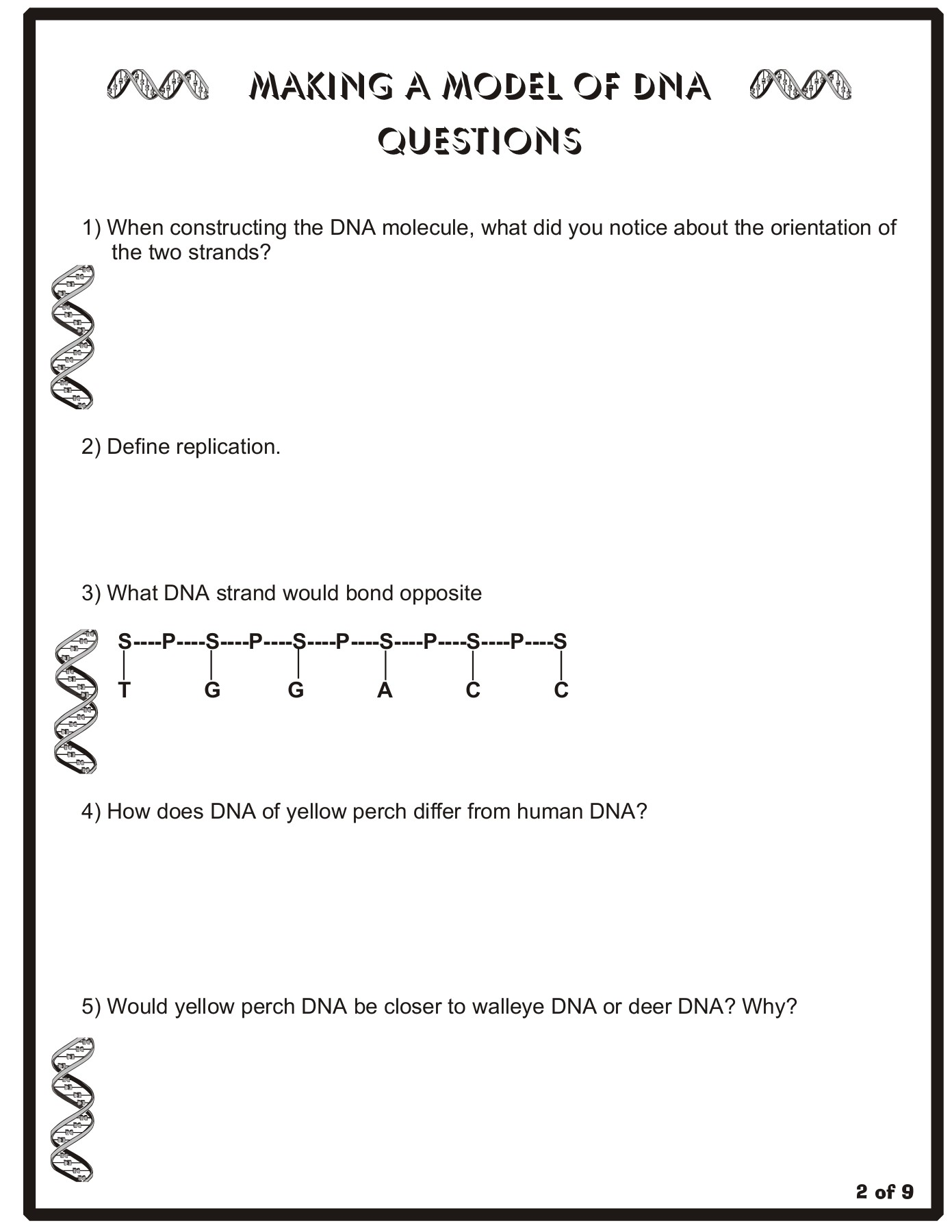 Making a Model of DNA Instructions - Tripod.com Pages 1 - 9 ...