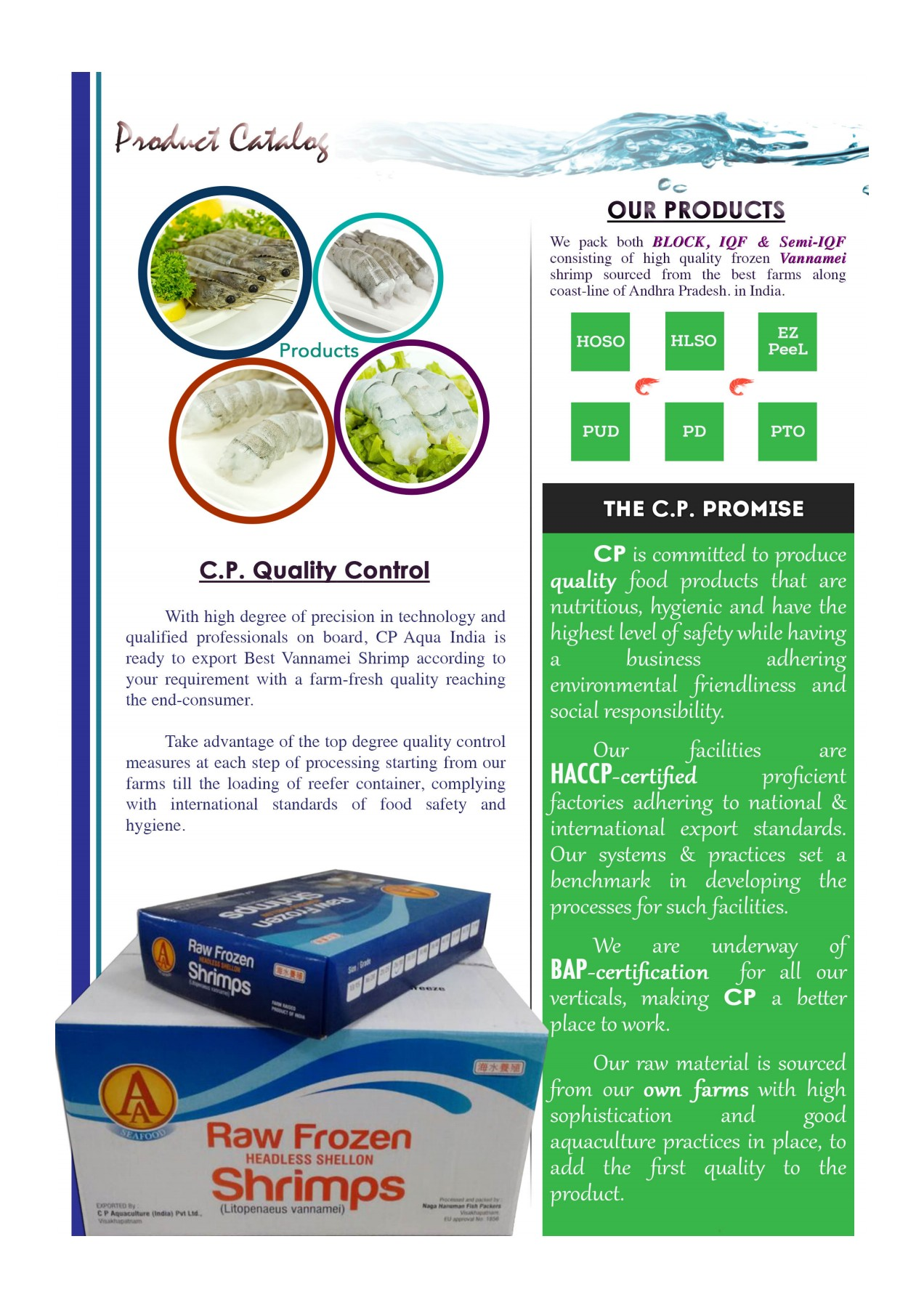 CP Aqua India - Seafood Catalogue Pages 1 - 4 - Text Version | AnyFlip