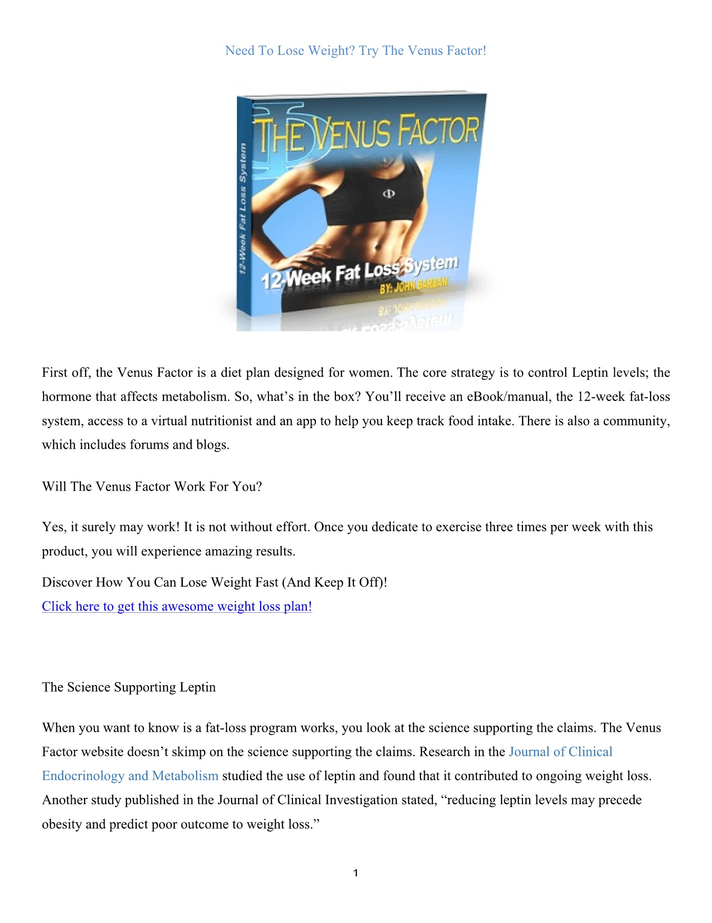 Lose Weight With Venus Factor Flip Ebook Pages 1 3 Anyflip Anyflip
