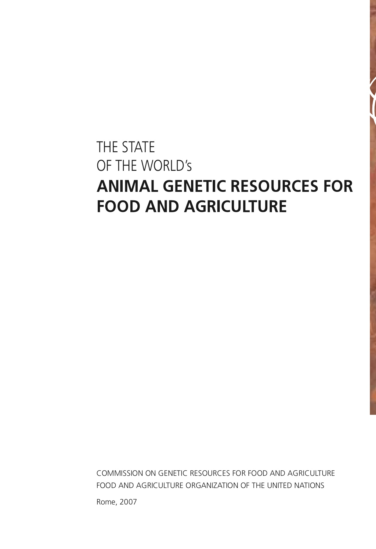 ANIMAL GENETIC RESOURCES FOR 524 Pages 401 450 Text