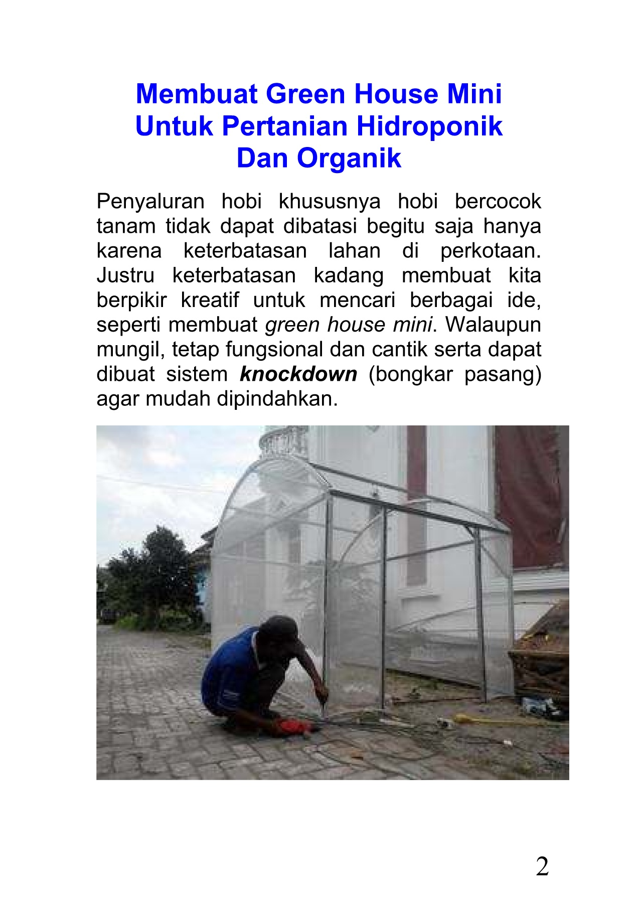 103 Membuat Green House Mini Hidroponik 27