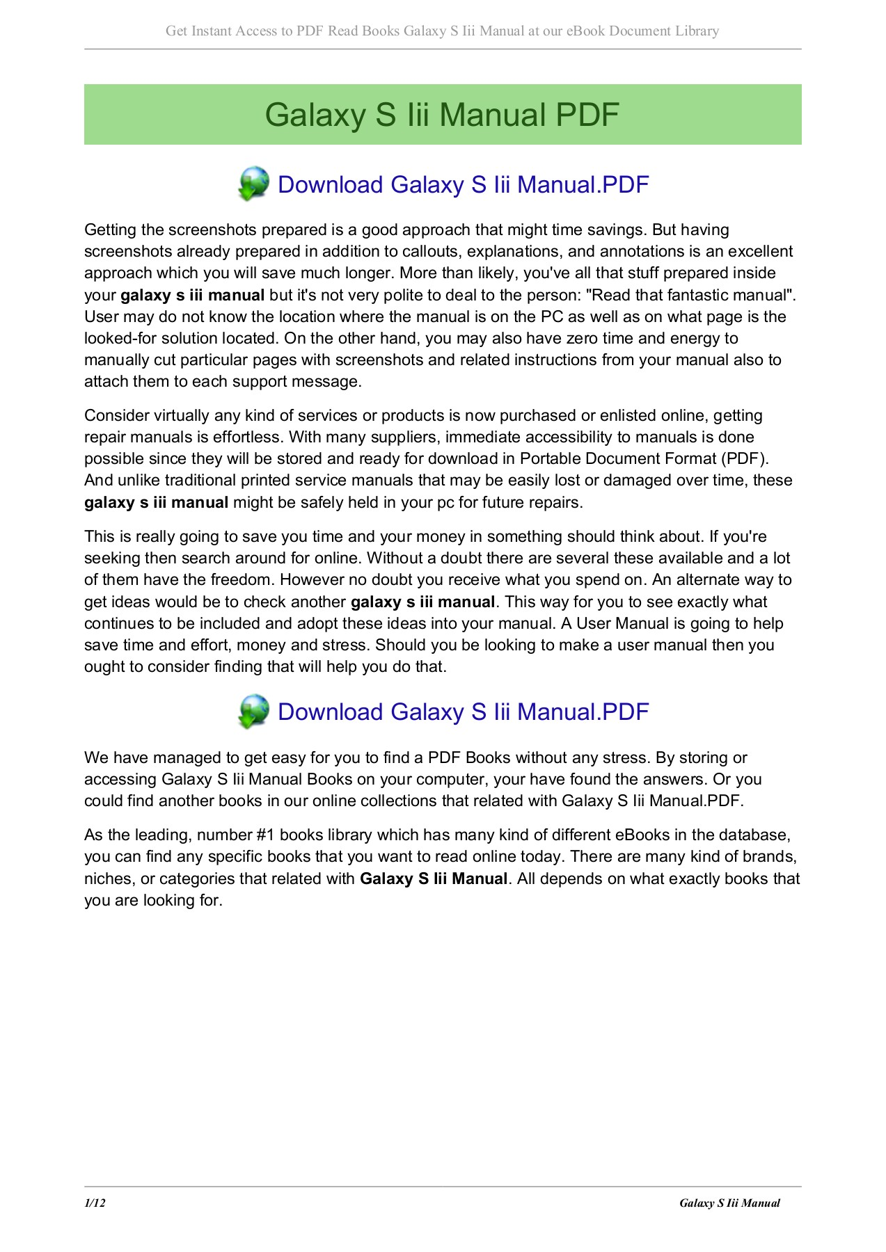 galaxy s manual download