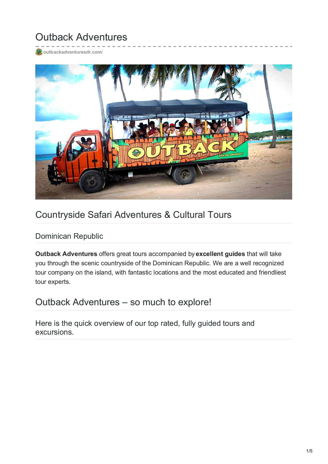 dominican republic guided tours