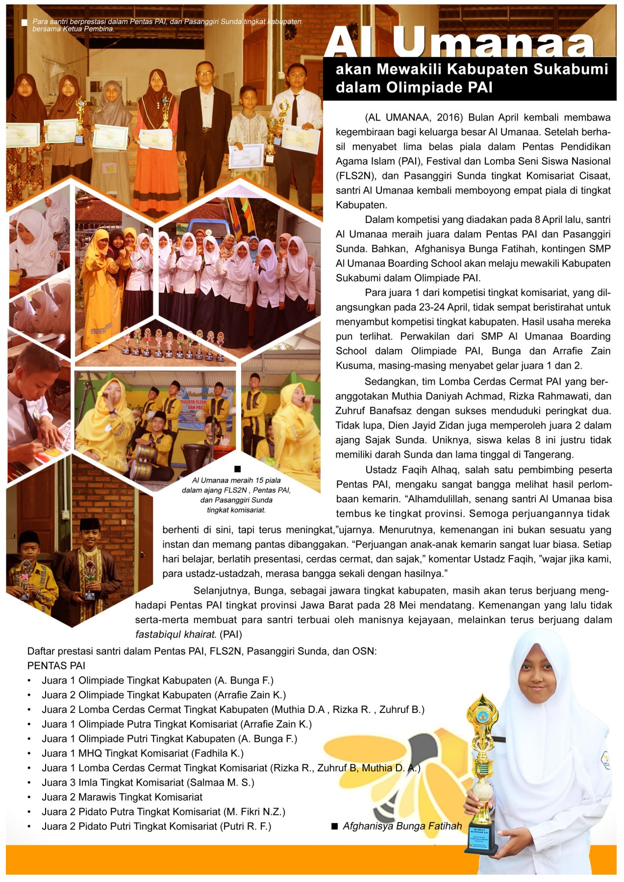 Newsletter Format Mading A3