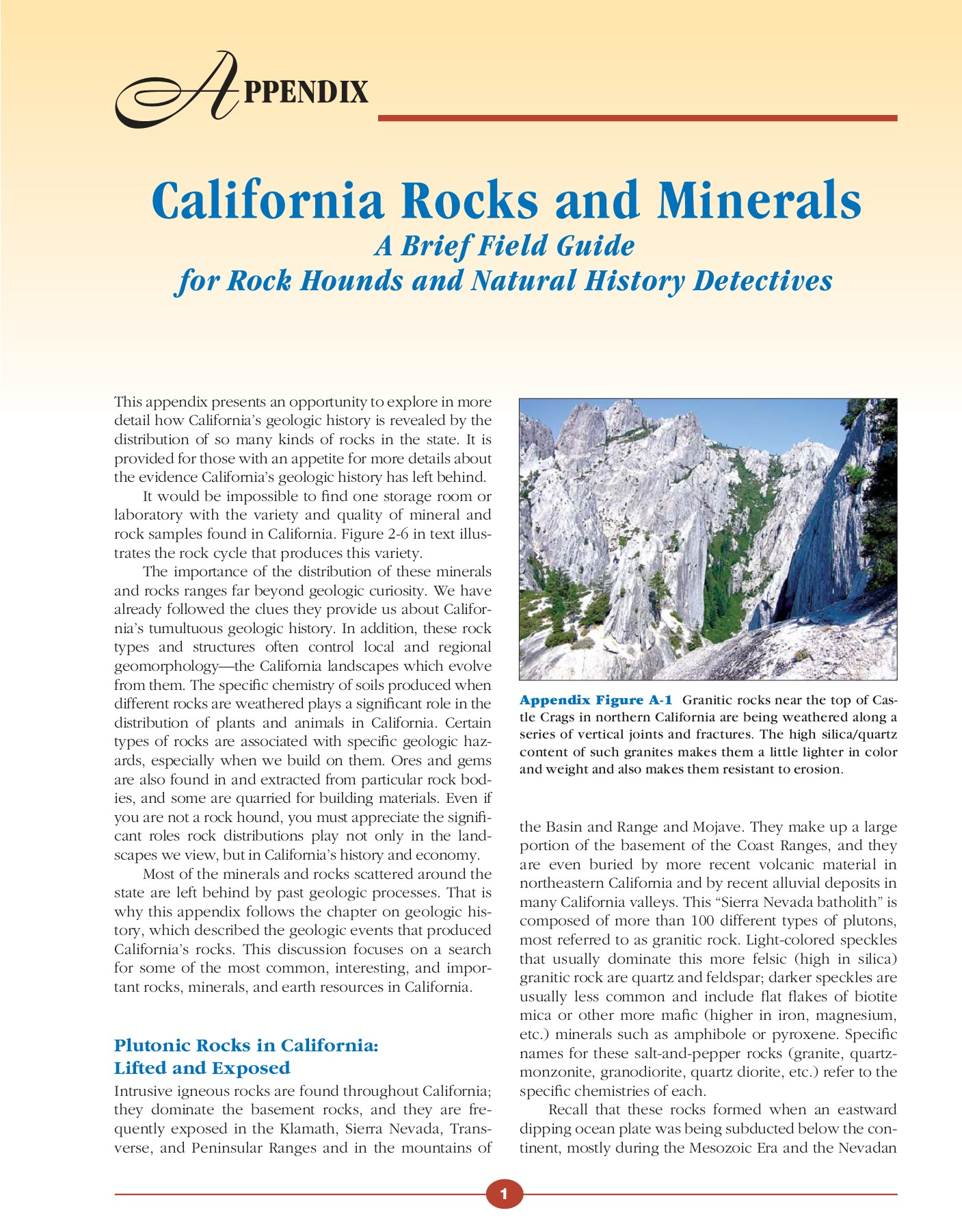 California Rocks and Minerals - California Geography