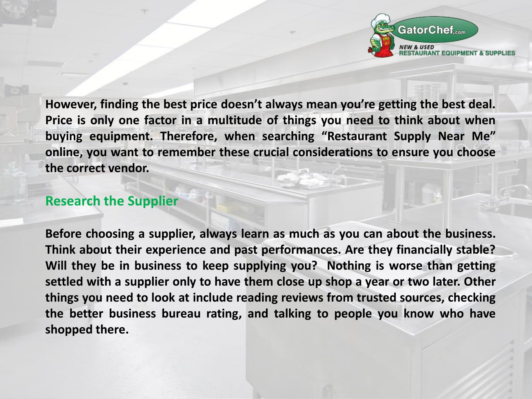 9 Tips For Choosing The Best Restaurant Supply Near Me Pages