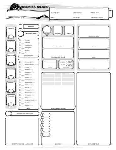 graphic about Printable 5e Character Sheet referred to as TWC-DnD-5E-Individuality-Sheet-v1.3