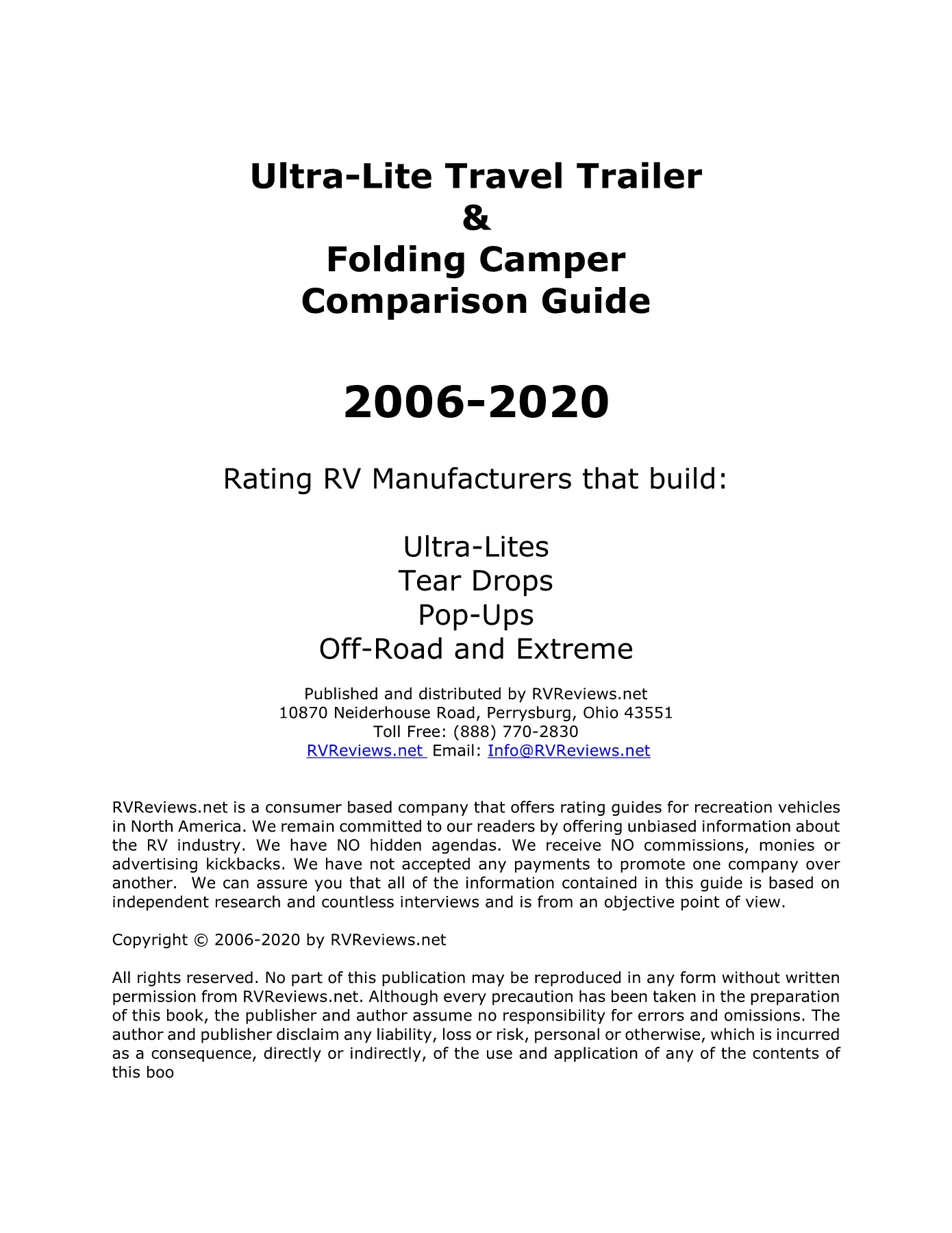 2018 Lightweight Travel Trailer Comparison Guide Pages 1   50   Text  Version | AnyFlip