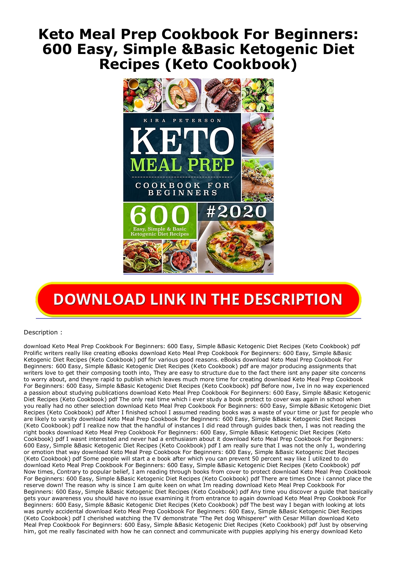 Kindle Onlilne Keto Meal Prep Cookbook For Beginners 600 Easy Simple Basic Ketogenic Diet Recipes Keto Cookbook Free Acces