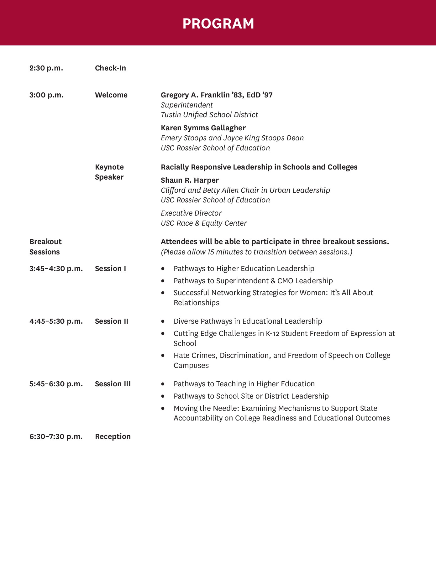 2017 Leadership Conf Program 071017 DRAFT Pages 1 - 20 - Text