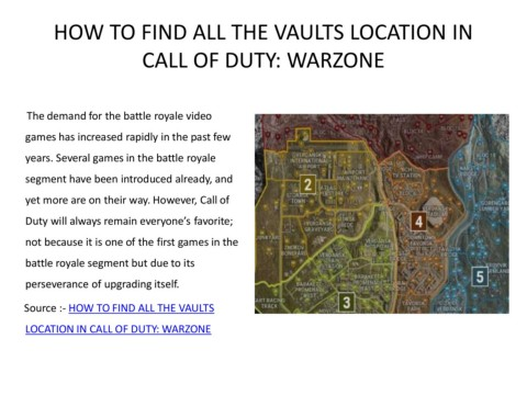 How To Find All The Vaults Location In Call Of Duty Warzone Pages 1 4 Text Version Anyflip