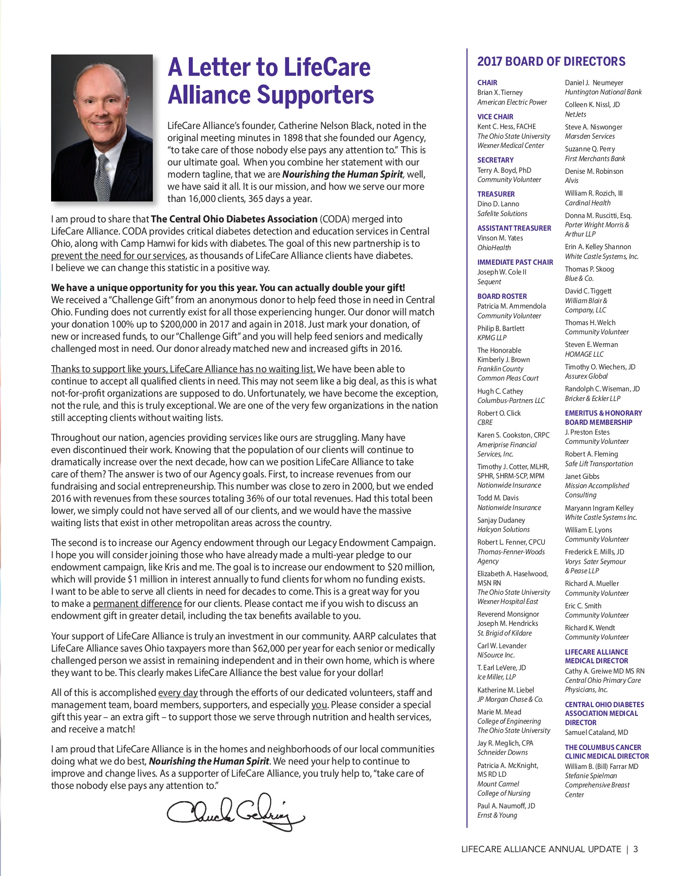 LifeCare Alliance Annual Report Pages 1 - 24 - Text Version