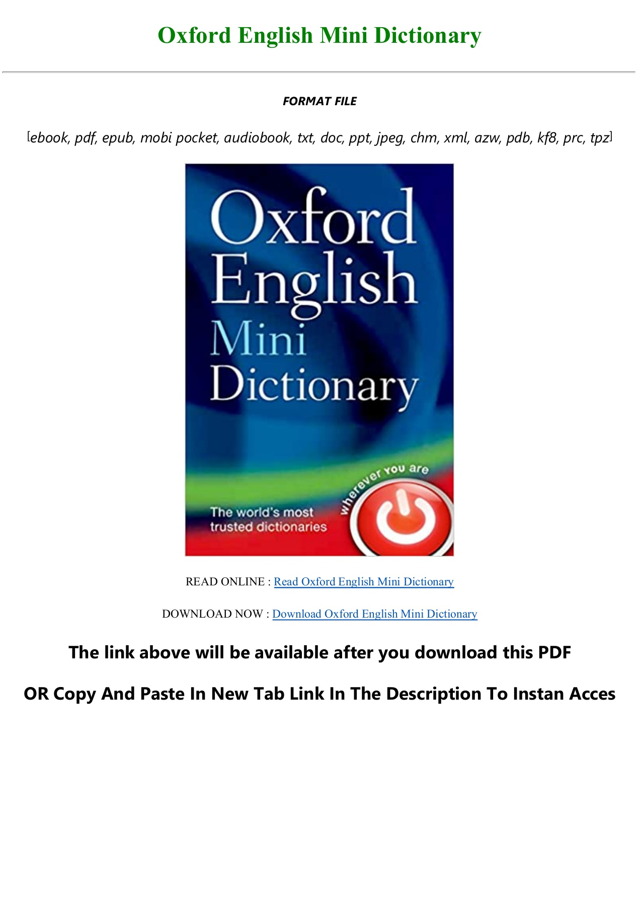 download oxford english dictionary pdf