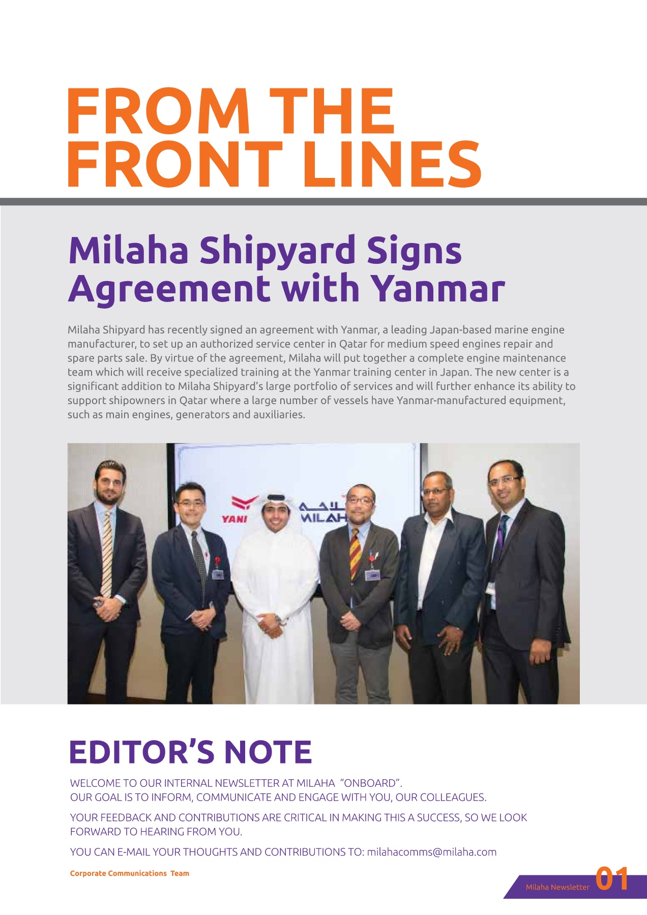 MILAHA ONBOARD MAGAZINE Pages 1 - 27 - Text Version | AnyFlip