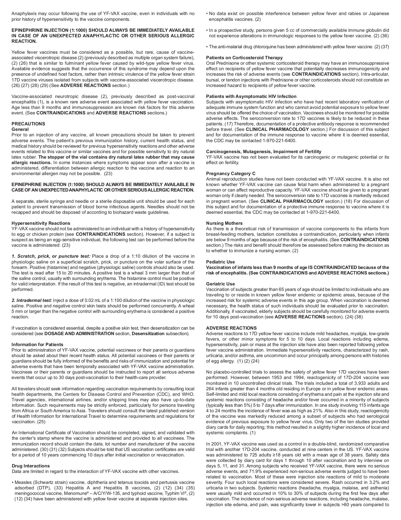 Yellow Fever Vaccine YF-VAX Pages 1 - 4 - Text Version | AnyFlip