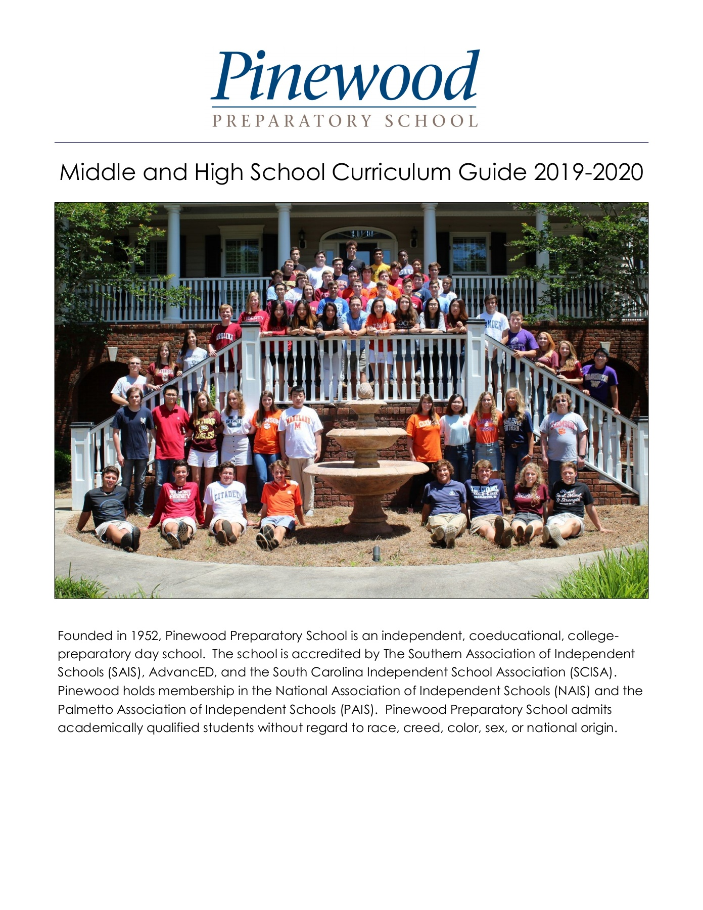 Pinewood Curriculum Guide 2019 2020 1 Pages 1 46 Text