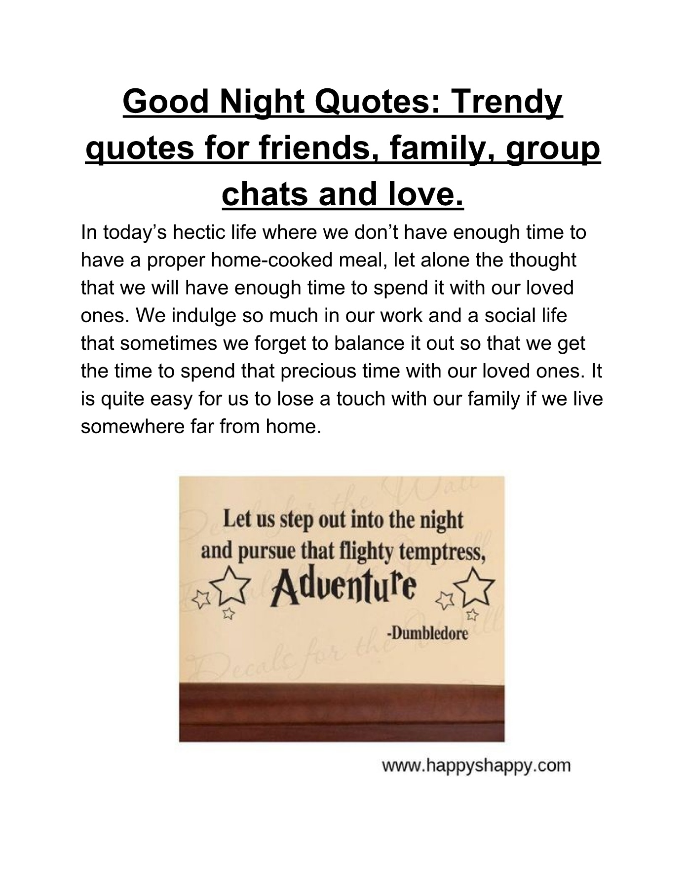 good night quotes trendy quotes for friends family group chats