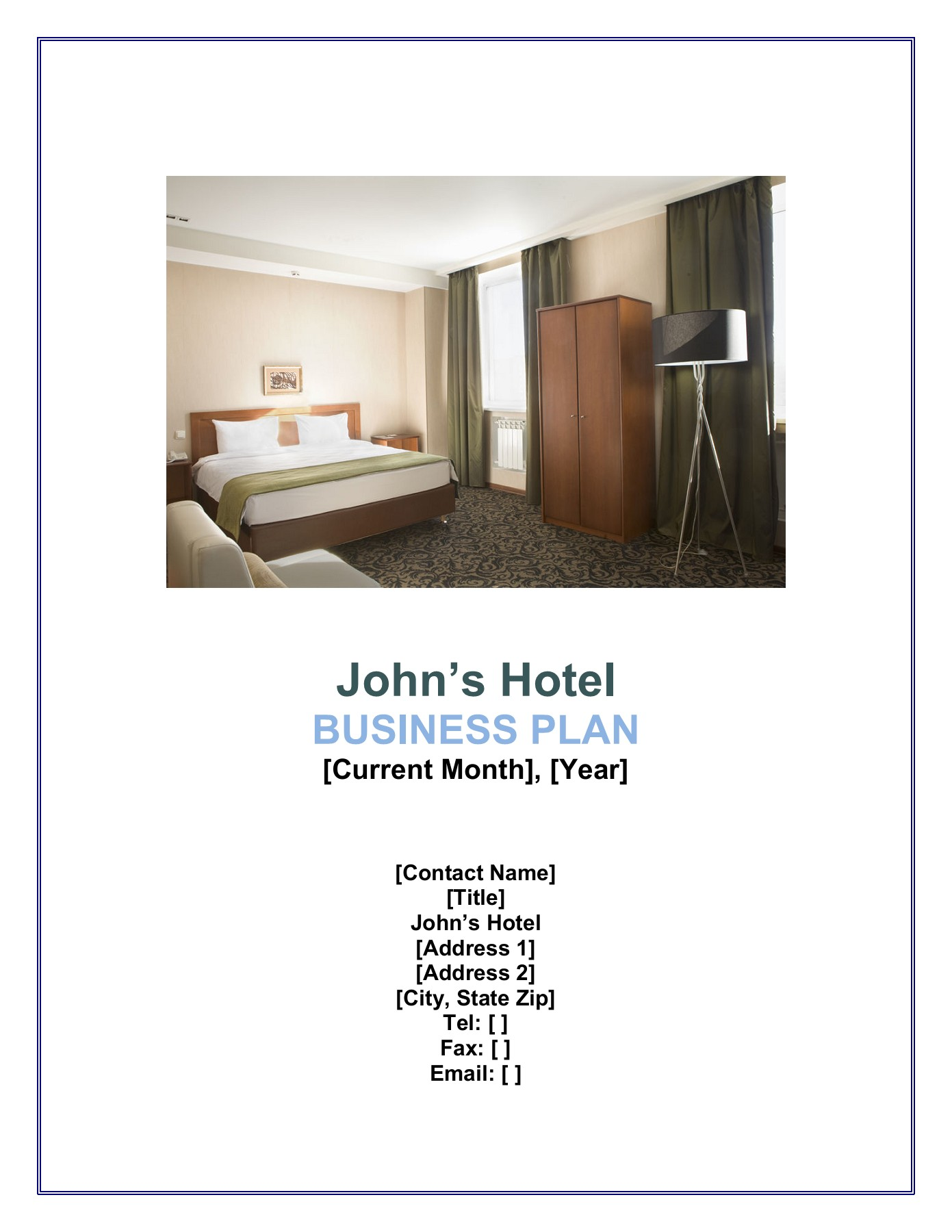 Sample Hotel Business Plan