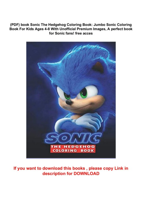 PDF) Book Sonic The Hedgehog Coloring Book: Jumbo Sonic Coloring Book For  Kids Ages 4-8 With Unofficial Premium Images, A Perfect Book For Sonic  Fans! Free Acces Pages 1 - 5 - Text Version AnyFlip