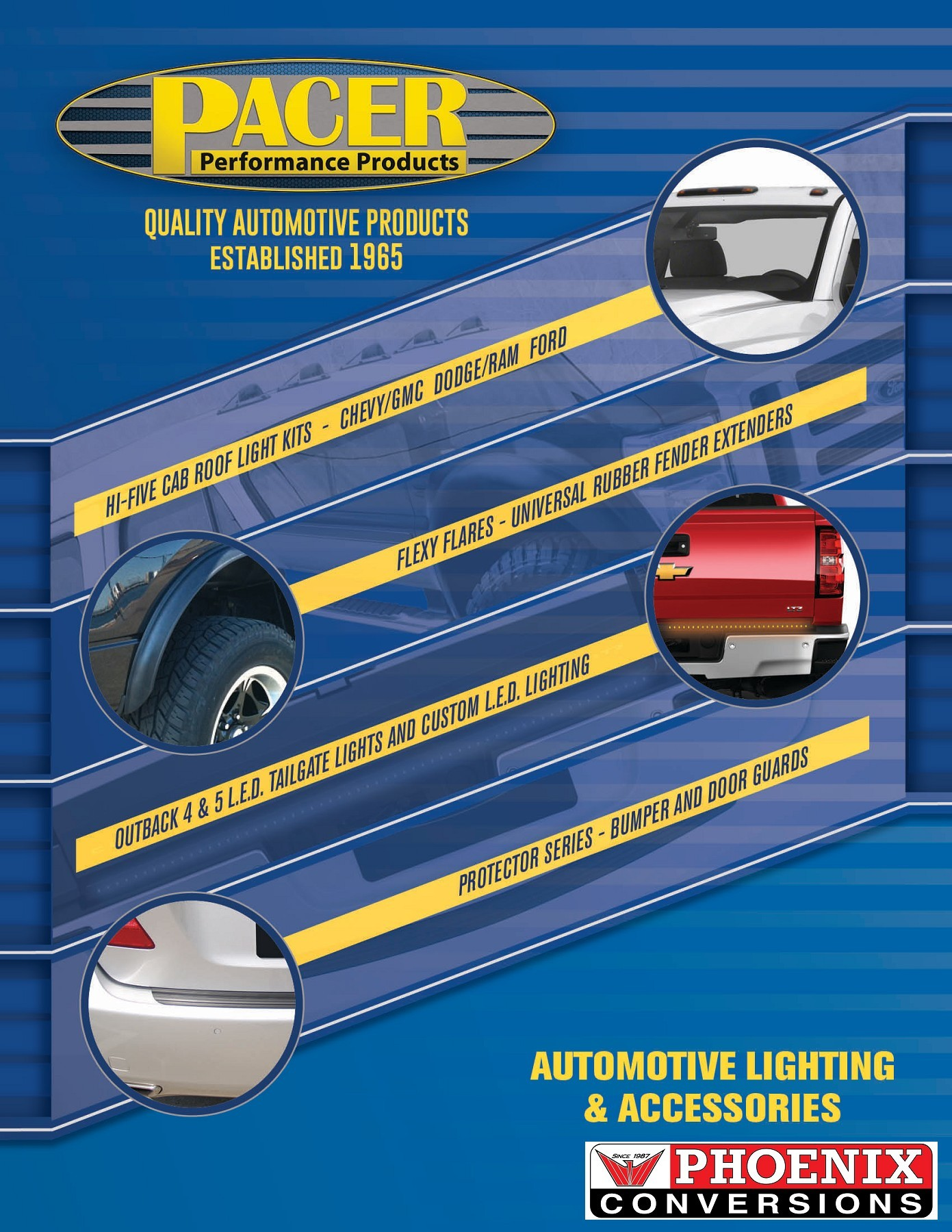 Pack of 5 Pacer Performance 20-247S Hi-Five Smoke Dodge Style Cab Roof LED Light Kit,