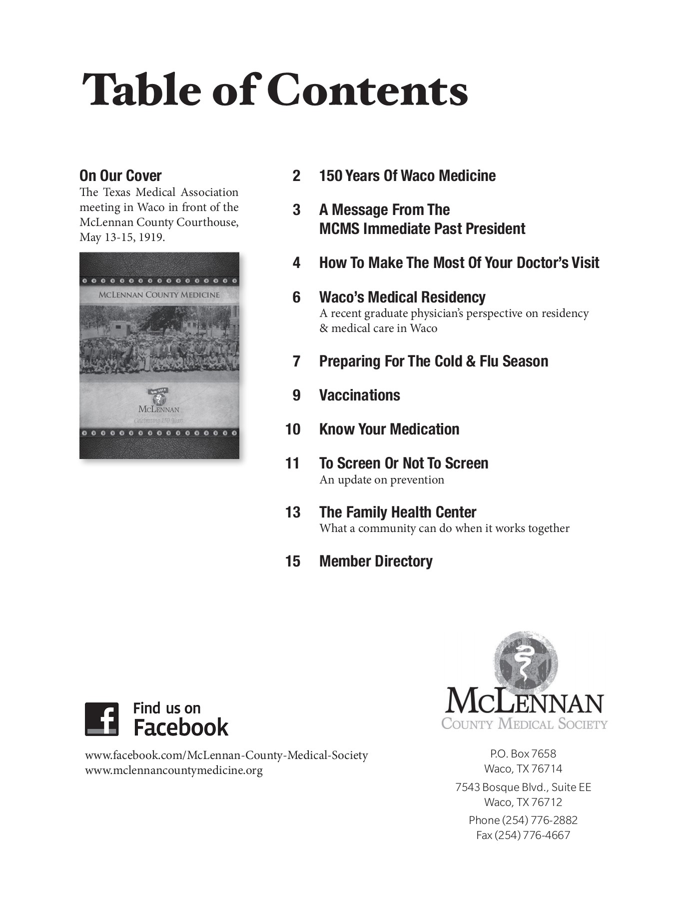 McLennan County Medicine Pages 1 - 44 - Text Version | AnyFlip