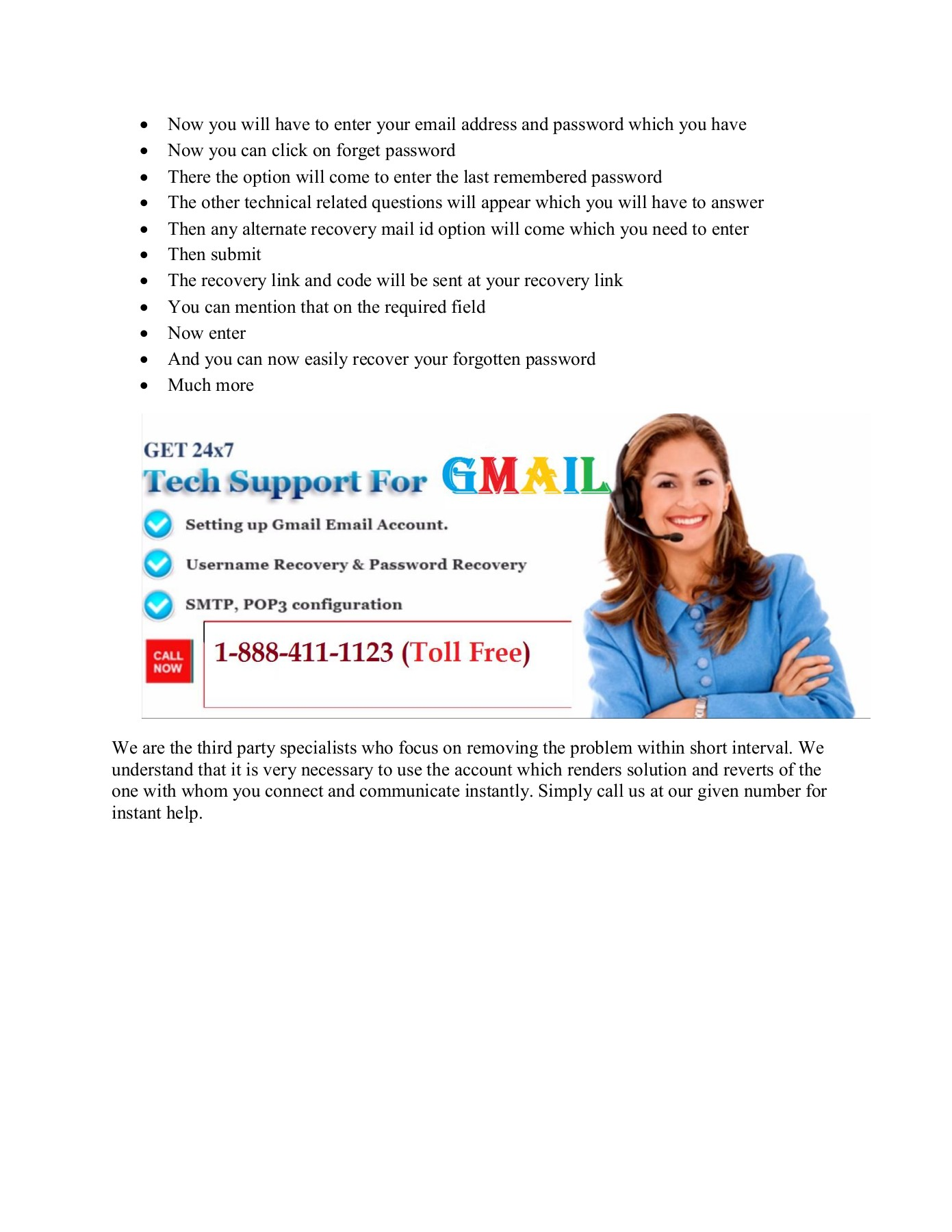 Gmail Customer Service Number USA