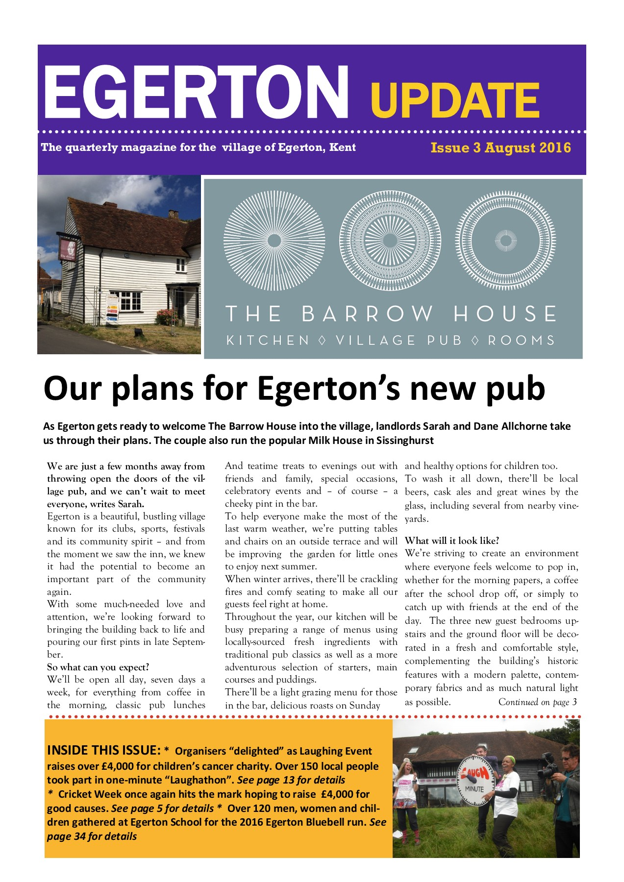 Egerton Newsletter Issue 3 - August 2016 Pages 1 - 48 - Text Version ...