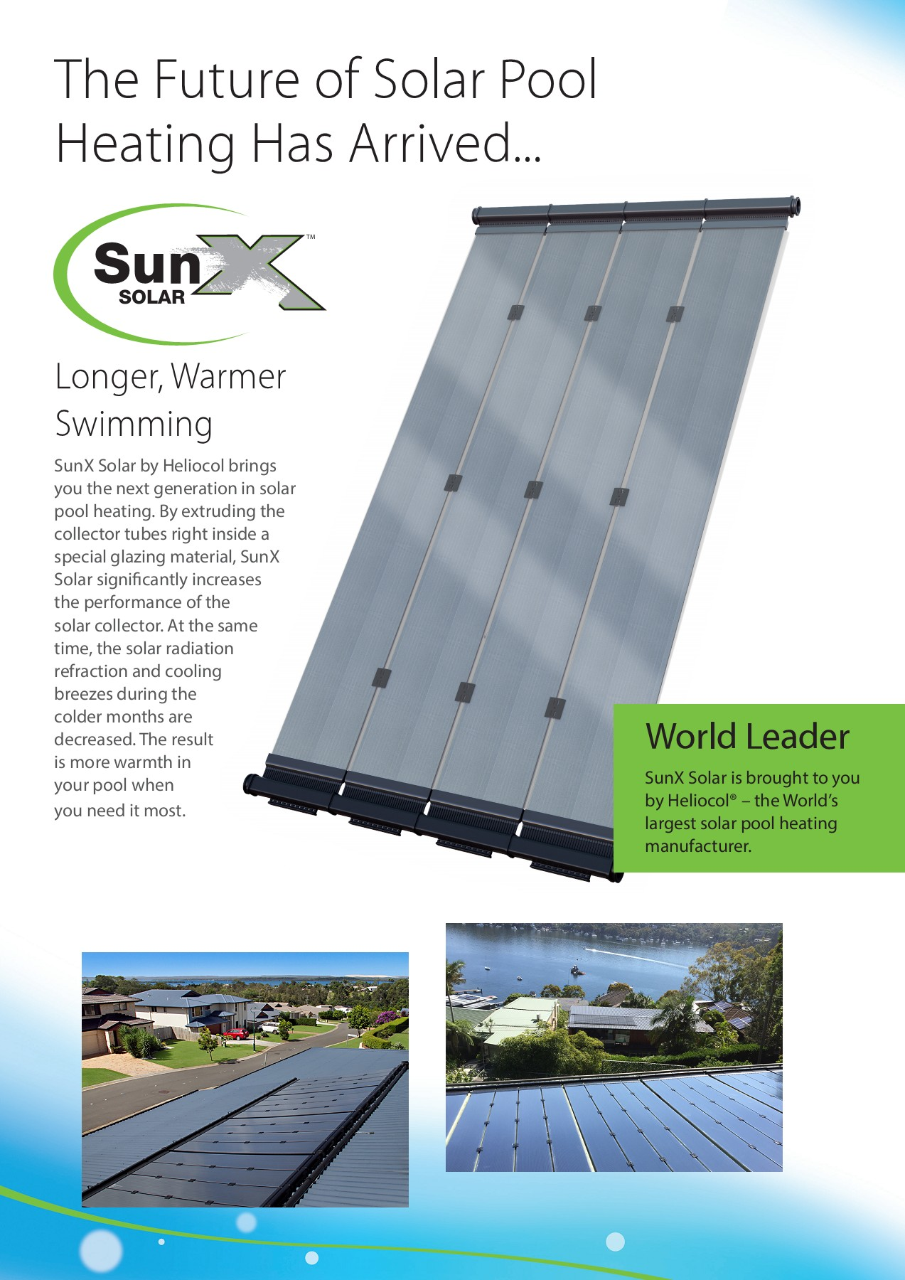 Sunx Solar Pool Heating Brochure Pages 1 4 Text Version Anyflip Home Panels Water Power