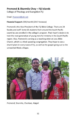 Page 12 - Missionary Profiles 2017