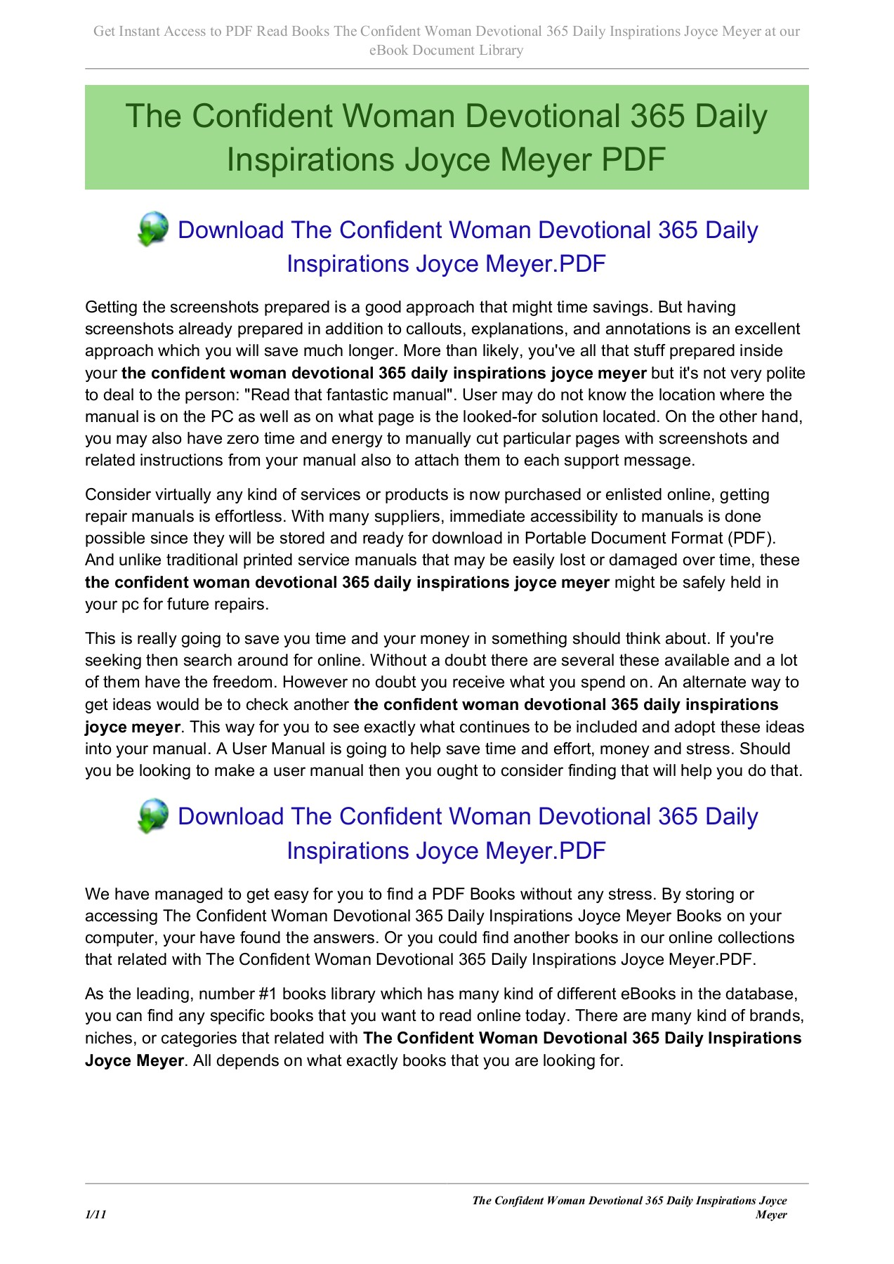 The Confident Woman Devotional 365 Daily Inspirations