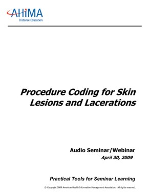 Procedure Coding for Skin Lesions and Lacerations Pages 1