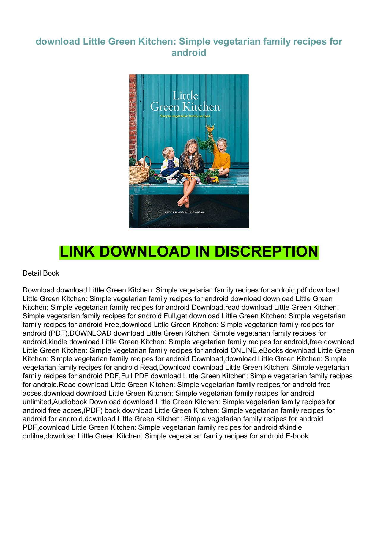 Download Little Green Kitchen Simple Vegetarian Family Recipes For Android