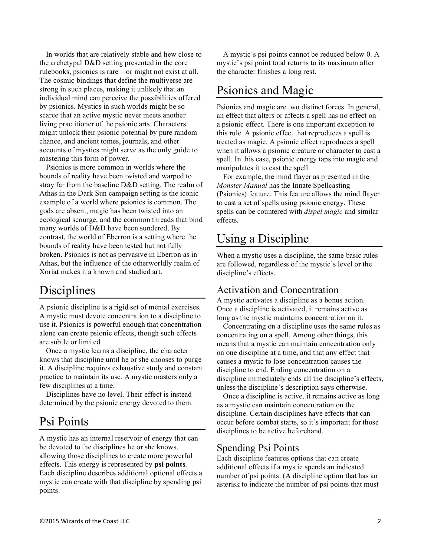 Psionics and the Mystic - Dungeons & Dragons Pages 1 - 7
