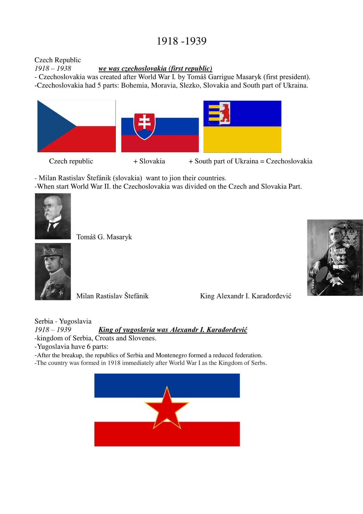 Czech and Serbian history Pages 1 - 2 - Text Version | AnyFlip