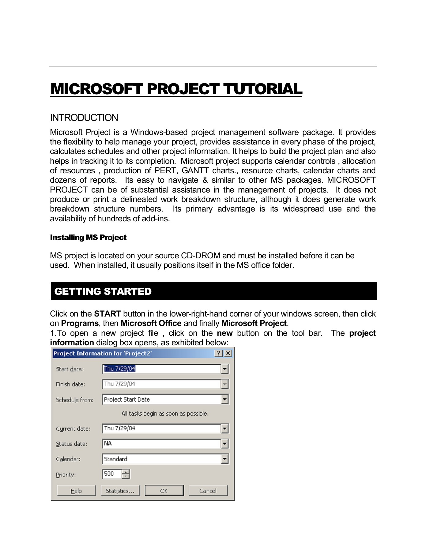 Microsoft Project Tutorial Texas Tech University Pages 1 16 Text Version Anyflip