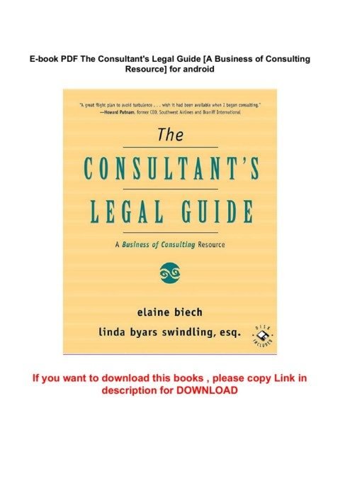 E Book Pdf The Consultant S Legal Guide A Business Of Consulting Resource For Android Pages 1 4 Text Version Anyflip