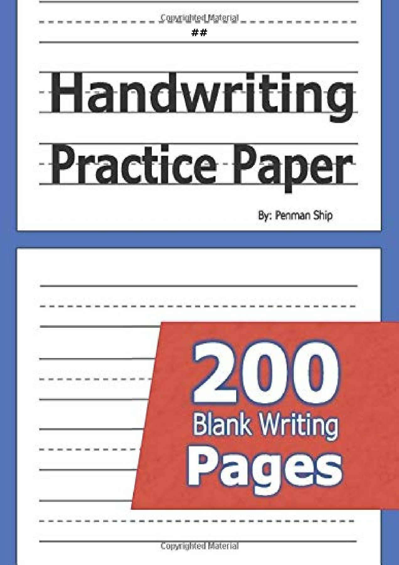 PDF) book Handwriting Practice Paper: 11 Blank Writing Pages