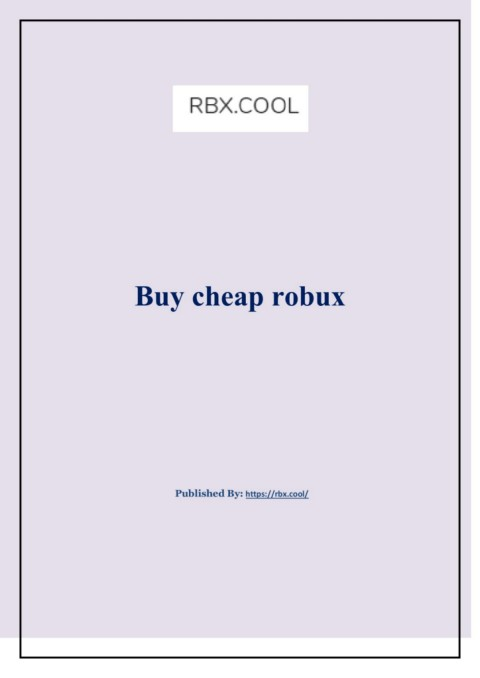 Buy Cheap Robux Pages 1 4 Text Version Anyflip