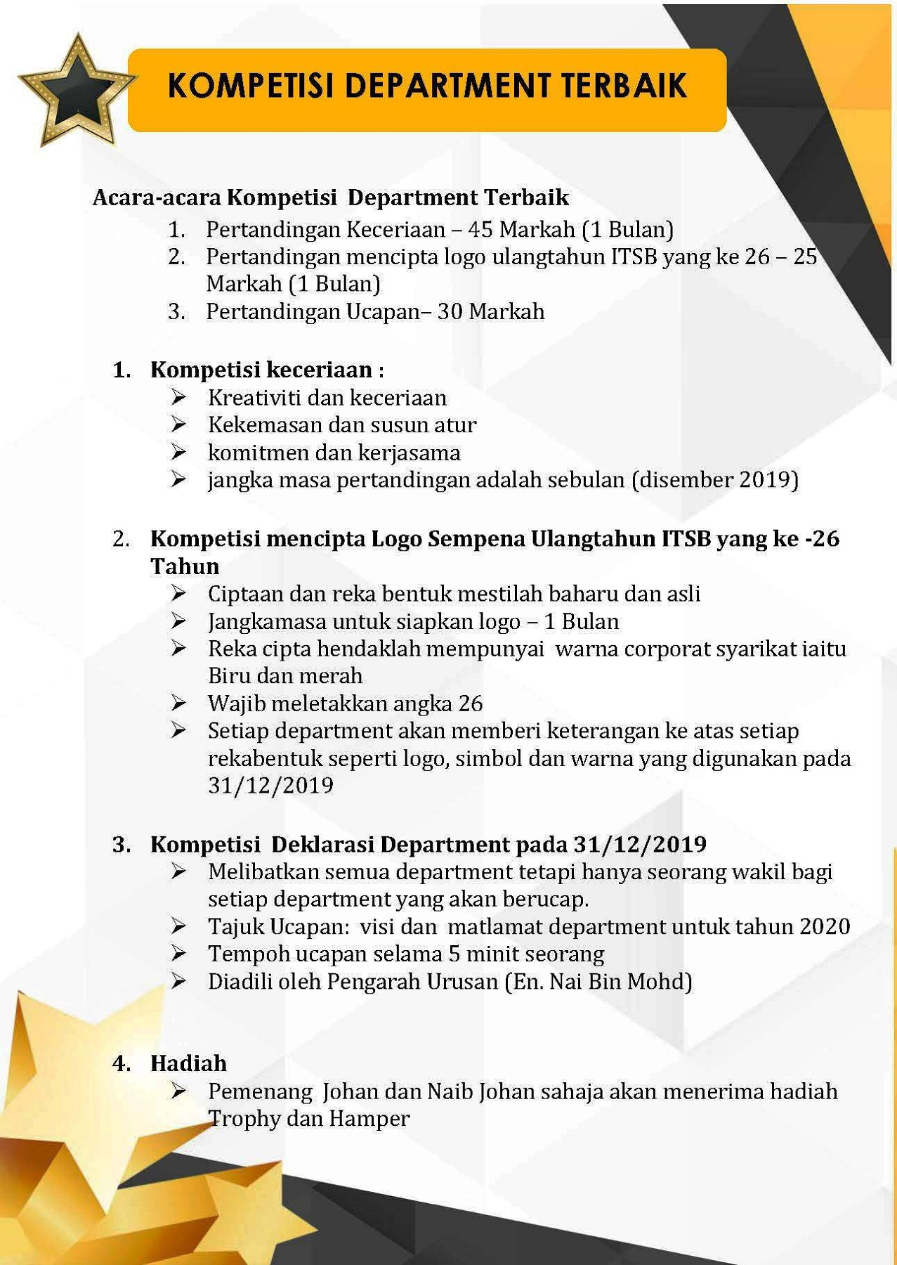 Kompetisi Department Terbaik Pages 1