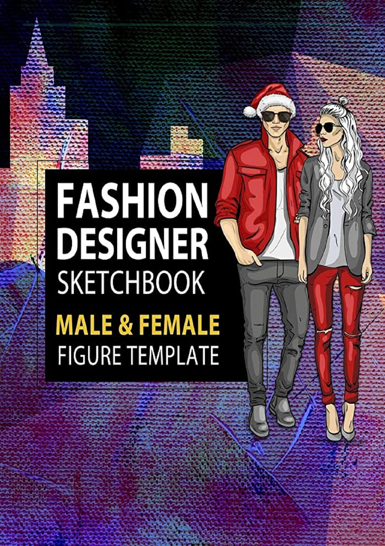 E Book Pdf Fashion Designer Sketchbook Male Female Figure Template Large Male Female Croquis For Easily Sketching Your Fashion Design Styles And Building Your Portfolio Xmas Gift For Fashionista Full Pages