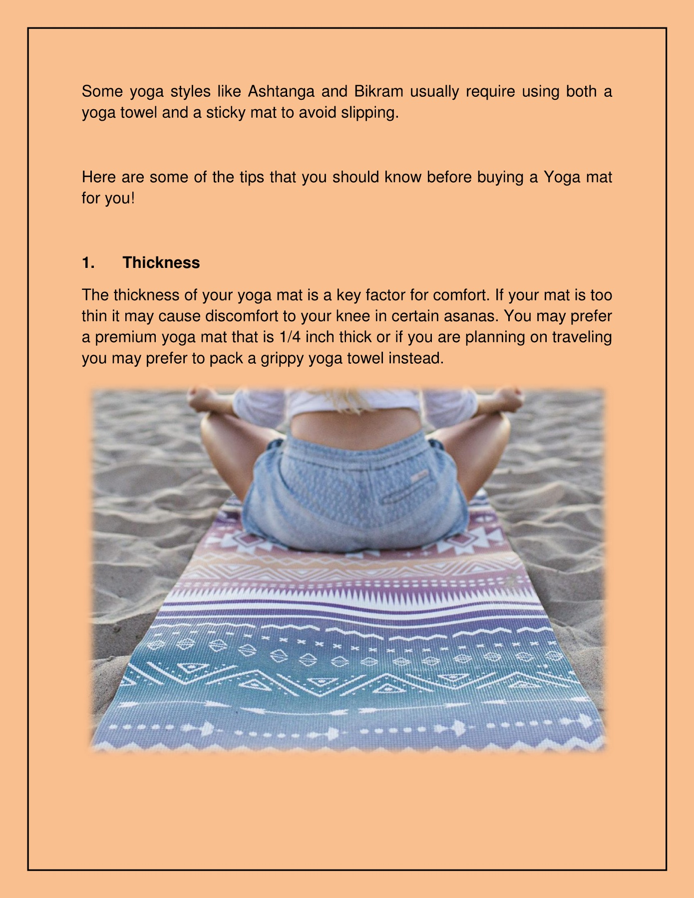 How To Select The Perfect Yoga Mat Pages 1 4 Text Version Anyflip