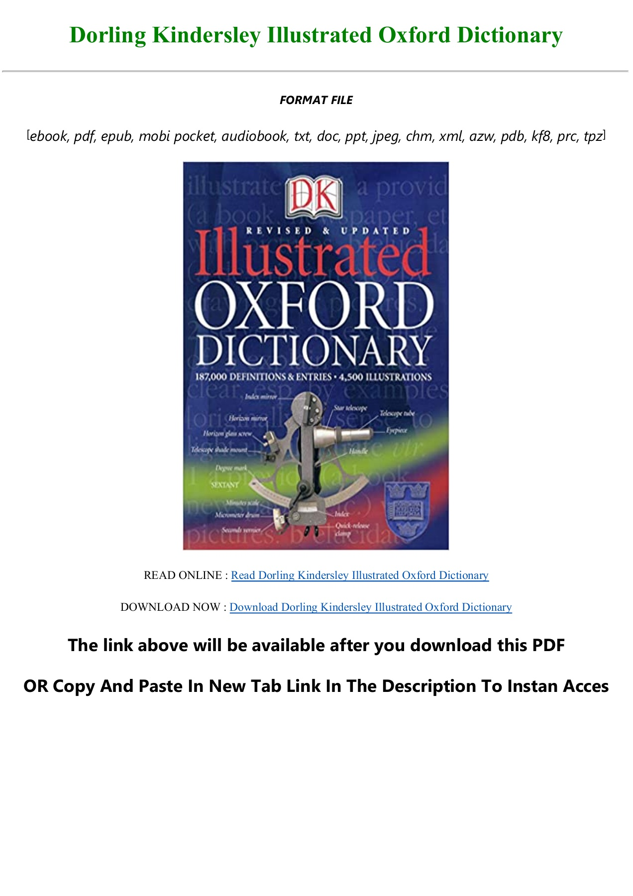 Read Book [PDF] Dorling Kindersley Illustrated Oxford Dictionary ...