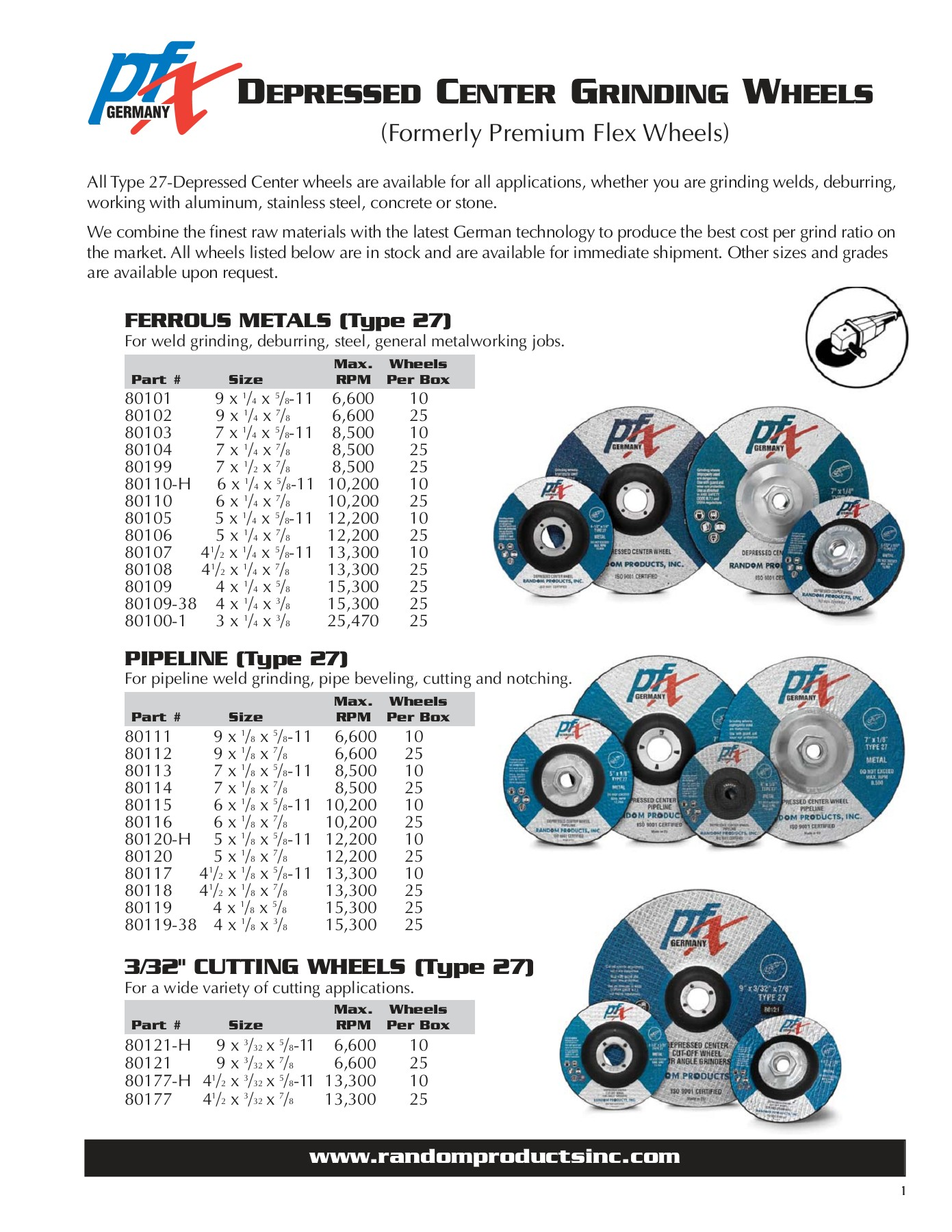 """Cut Off Wheels 3/"""" X 1//16/"""" X 3//8/"""" 100Pc Abrasive Cutting Tools /& Consumables"""